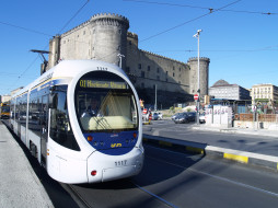трамвай, техника, трамваи, город, италия, неаполь, улица