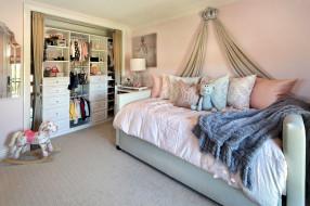 интерьер, детская комната, кровать, шкаф, игрушки
