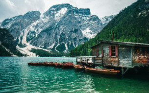обои для рабочего стола 2560x1600 корабли, лодки,  шлюпки, горы, озеро