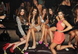 девушки, kim kardashian, красивая, девушка, ночной, клуб