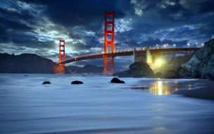 города, сан-франциско , сша, golden, gate, bridge