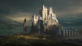 фэнтези, замки, castle, town, jordan, grimmer