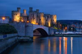 conwy castle, north wales, города, замки англии, conwy, castle, north, wales