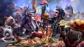 фэнтези, существа, the, feast, mujia, liao