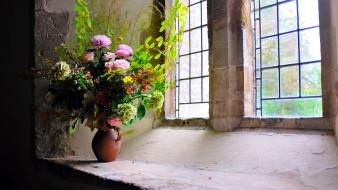 роза, гортензия, хризантема