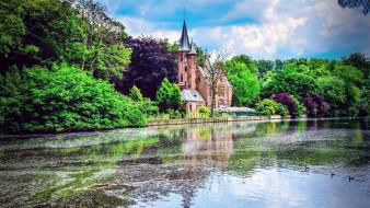chateau de spycker, города, брюгге , бельгия, chateau, de, spycker