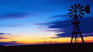 разное, ветрогенераторы, ветряк, небо, закат, горизонт