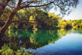 природа, реки, озера, вода, озеро, отражение