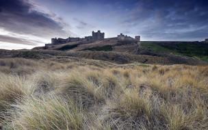 bamburgh castle, города, замки англии, bamburgh, castle