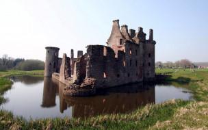 caerlaverock castle scotland, города, замки англии, caerlaverock, castle, scotland