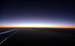 обои для рабочего стола 3840x2400 авиация, авиационный пейзаж, креатив, небо, рассвет, облака, высота, крыло, самолет