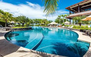 интерьер, бассейны,  открытые площадки, бассейн, лежаки, пальмы