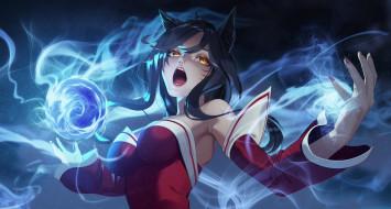 видео игры, league of legends, ahri, магия