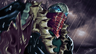 видео игры, league of legends, дождь, маска, гроза, pyke
