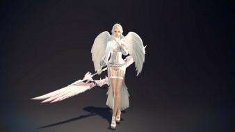 3д графика, ангел , angel, девушка, ангел, оружие