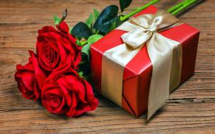 обои для рабочего стола 1920x1200 праздничные, подарки и коробочки, розы, подарок, лента, бант