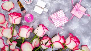 праздничные, подарки и коробочки, розы, подарки, косметика