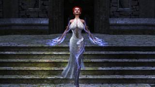 девушка, фон, платье, магия