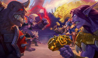 видео игры, hearthstone,  heroes of warcraft, персонажи, арена