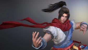 видео игры, dynasty warriors 9, парень, боец, шарф