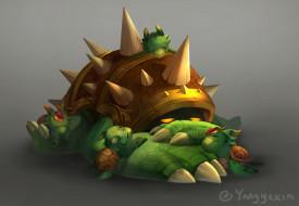 видео игры, league of legends, черепахи, шипы, rammus