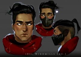 видео игры, league of legends, парень, лицо, шарф, маска, ракурсы