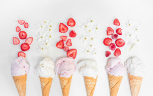 еда, мороженое,  десерты