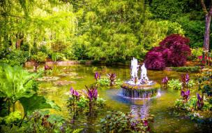 butchart gardens, british columbia, canada, природа, парк, butchart, gardens, british, columbia