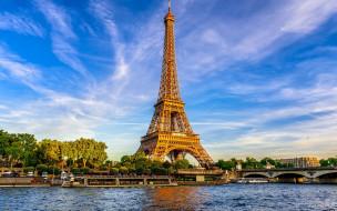 города, париж , франция, eiffel, tower