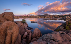 granite dells, arizona, usa, природа, реки, озера, granite, dells