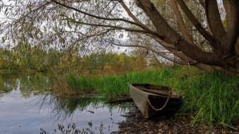 корабли, лодки,  шлюпки, река, лодка, цепь