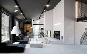 интерьер, гостиная, телевизор, диваны