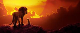 обои для рабочего стола 2587x1080 кино фильмы, the lion king , 2019, лев, львенок, разговор, закат
