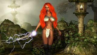 3д графика, фантазия , fantasy, девушка, фон, взгляд, униформа, меч, магия
