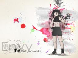 аниме, fullmetal alchemist, зависть, гомункул, envy, панда