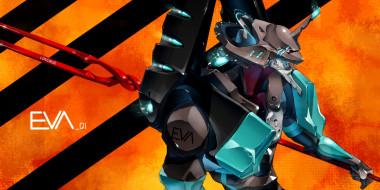 аниме, evangelion, eva, меха, робот