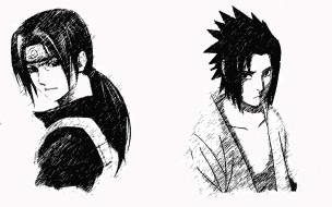 аниме, naruto, uchiha, itachi, sasuke, shinobi