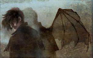 обои для рабочего стола 1920x1200 аниме, hellsing, алукард, alucard, дракула, вампир, dracula, крылья