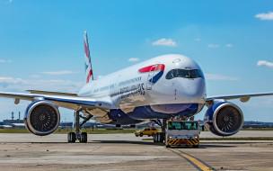 airbus a350 xwb, авиация, пассажирские самолёты, airbus, a350, xwb, british, airways, пассажирский, лайнер, самолет, в, аэропорту, авиаперелет, великобритания