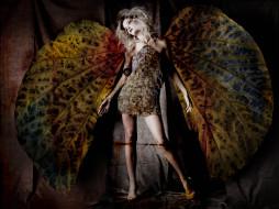 девушки, - креатив,  косплей, блондинка, платье, крылья
