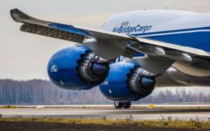 boeing 747-800, авиация, грузовые самолёты, boeing, 747-800, airbridgecargo, airlines, 747, грузовой, самолет, взлет, самолета, турбина, крыло