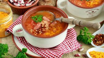 еда, первые блюда, суп, фасолевый