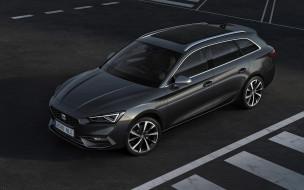 2020 seat leon st, автомобили, seat, leon, st, 2020, экстерьер, серый, универсал, новый, испанские