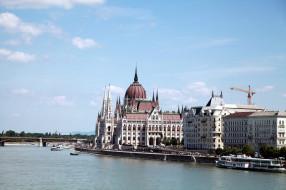 города, будапешт , венгрия, река, парламент