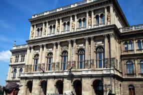 города, будапешт , венгрия, здание, флаги