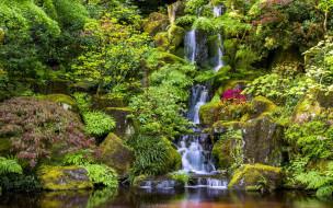 japanese garden, portland, maine, usa, природа, парк, japanese, garden