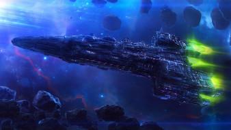 фэнтези, космические корабли,  звездолеты,  станции, acus, era-7
