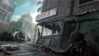 фэнтези, нежить, зомби, город, апокалипсис
