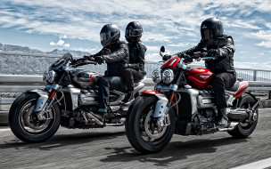 2020 triumph rocket 3, мотоциклы, triumph, rocket, 3, 2020, новые, красный, черный