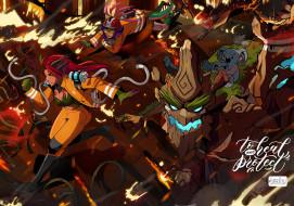 видео игры, league of legends, персонажи, спасение, пожар, лес, коалы